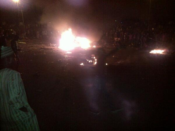 Social media photo of the scene of the reported blast in Nyanya (Photo Credit: 36ng)