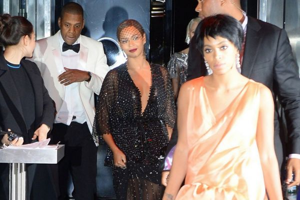 The moment Beyonce, Jay-Z and Solange stepped out of the elevator after the fight