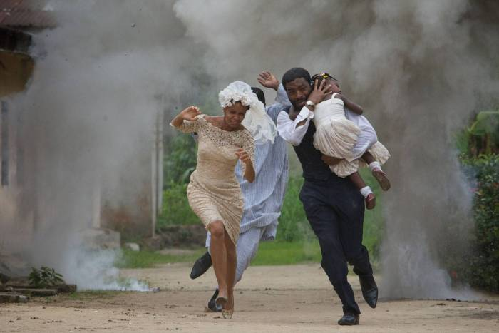 Chiwetel Ejiofor and Thandie Newton in a still shot of the film, Half of A Yellow Sun
