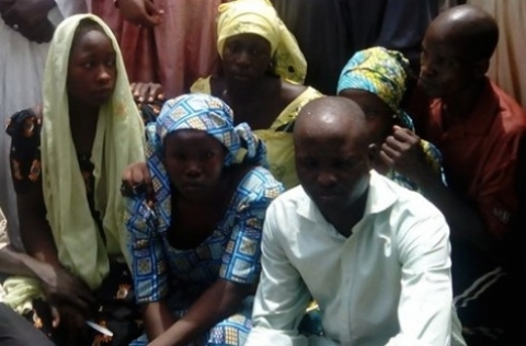 Some of abducted girls who escaped from their captors (Photo credit: Sahara Reporters)