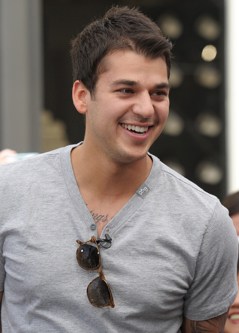 Rob Kardashian visits Extra at The Grove on April 5, 2011 in Los Angeles, California.  (Photo Credit: Noel Vasquez/Getty Images for Extra)