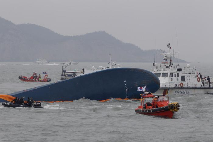 Scene of the ferry disaster