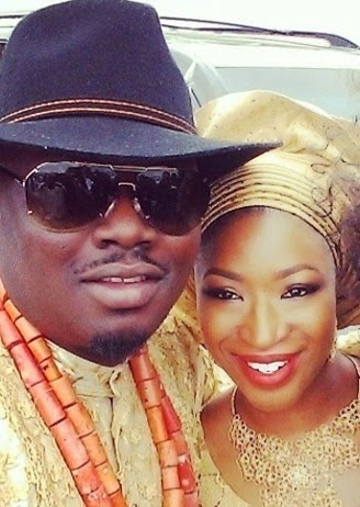 Dr Sid and Simi Osomo at thier traditional wedding at the The Ark Event Center, Lekki, Lagos on Sunday, July 27, 2014 (Photo credits: Linda Ikeji)