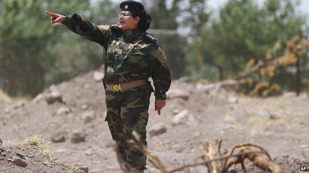 Col. Nadiha Rashid Dishing out orders [Photo Credit:CNN]
