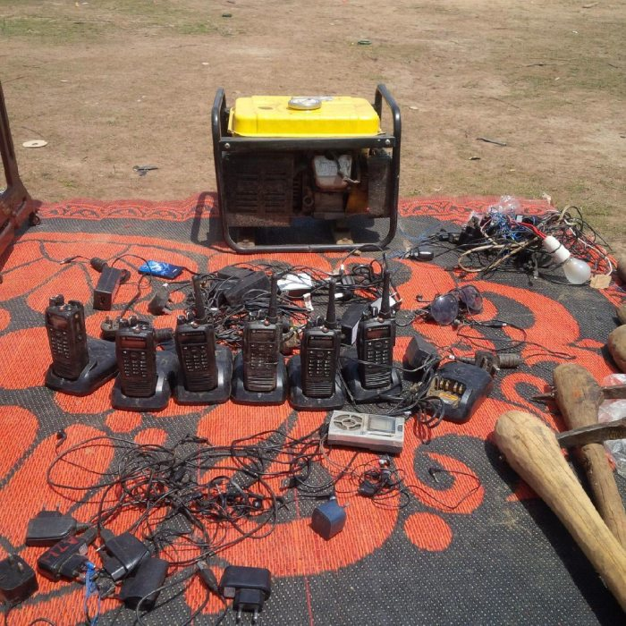 Communications materials recovered from terrorists in Balmo Forest  (Photo: Defence HQRT)