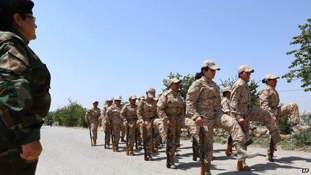 Families are supportive of the decision of the women to join the Peshmerga, Col Rashid says [Photo Credit: CNN]