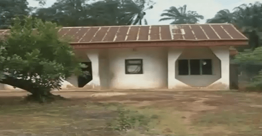 The house used by kidnappers in Imo state [Photo Credit: Linda Ikeji]