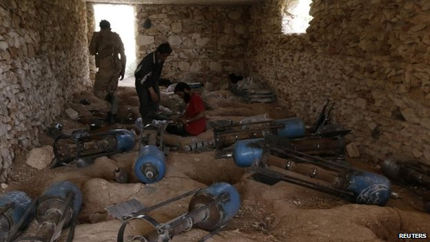 Rebel fighters have also been stockpiling weapons in remote areas