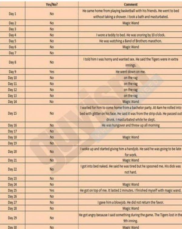 Wife's spreadsheet (Photo Credits- Guyism)