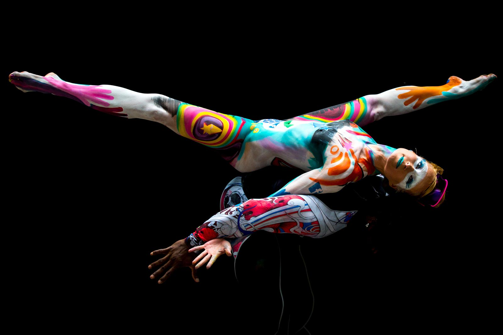 naked women superher body paint