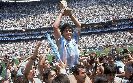 Argentina's Maradona hailed as the hero of the World Cup