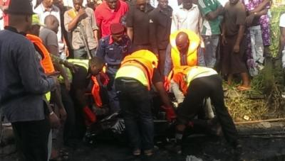 Lagos boat explosion (Photo Credit: Daily Post)