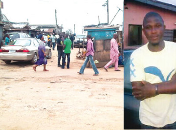 Scene of the clash in Lagos and the deceased electrical engineer (Photo Credits: Punch News)