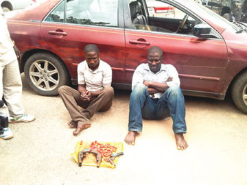 Armed Robbers, Lawal and Makinde (Photo credit:; Olaleye Aluko)