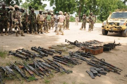 Recent recovered ammunition by Nigerian troops in Konduga