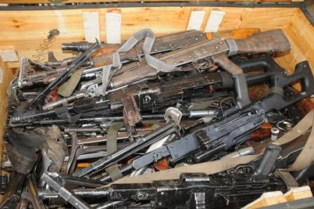 Recovered Cache of Arms from terrorists in recent encounter with the Nigerian troop
