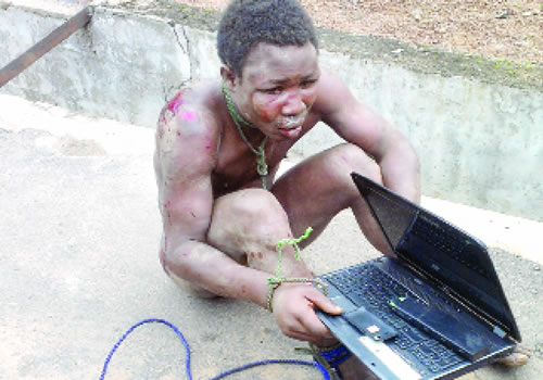The alleged armed robber and rapist (Photo Credit: Nigerian Tribune)