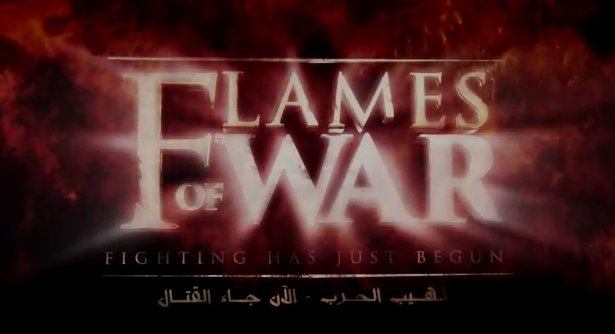 Screenshot of the Flames of War video by Isis (Photo Credit: AP)