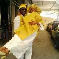 Late Kemi and her husband in one of their happy days