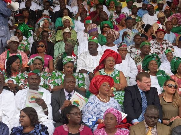 The Inauguration of the 11th  Governor of Ekiti state, His Excellency Ayodele Fayose on Thursday, October 16, 2014 in Ado Ekiti  (Photo Credit: Linda Ikeji Blog)