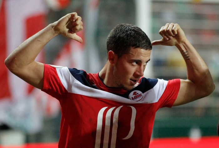 Eden Hazad after scoring for his National team at the world cup qualifying games. undated photo.