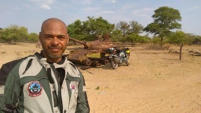 Ogbonnaya kanu at the Namibia/Angola border crossing
