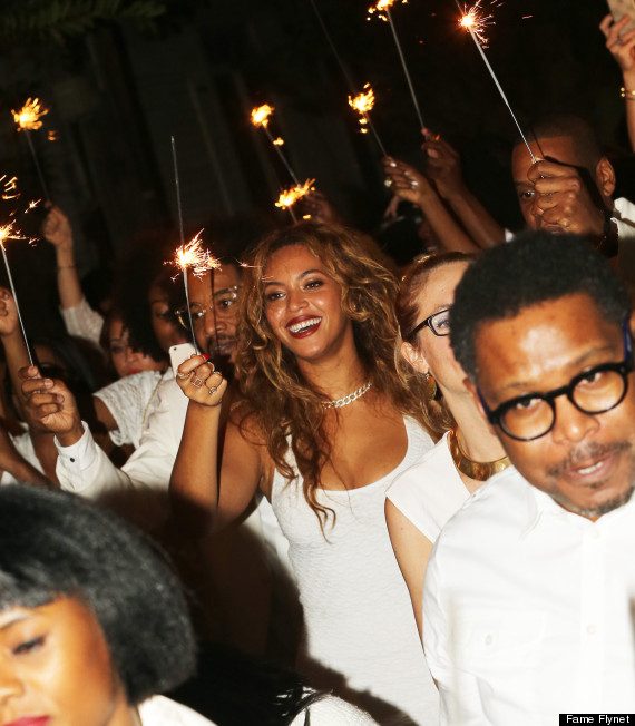 Beyonce an other guests at the wedding of sister Solange and Alan Ferguson in New Orleans, November 16, 2014 (Photo Credit: FameFlynet)