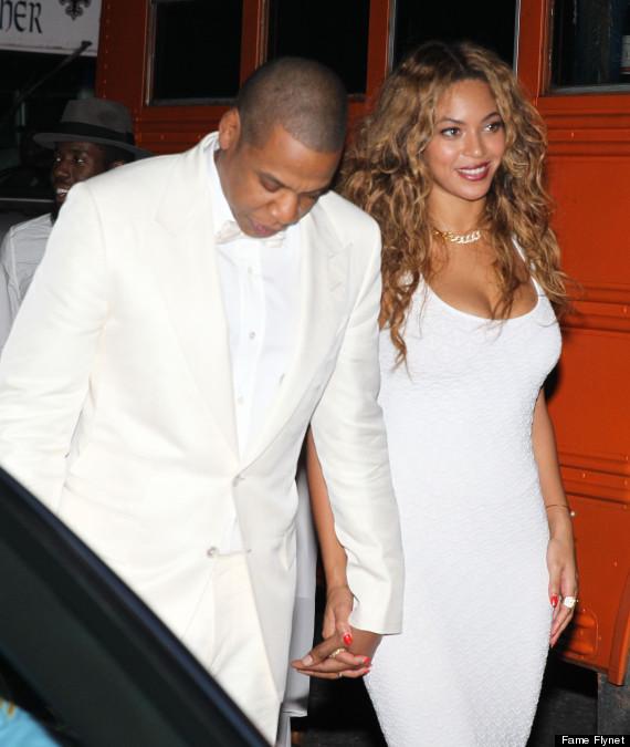 Beyonce and Jay Z at sister, Solange's wedding to Alan Fergurson at New Orleans, November 16 (Photo Credit: FameFlynet)