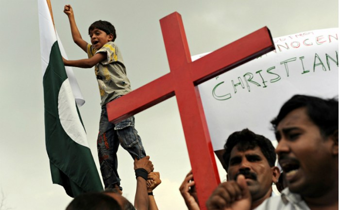 Protest Against The Killing Of Christian Couple In Pakistan (Photo Credit:AFP)
