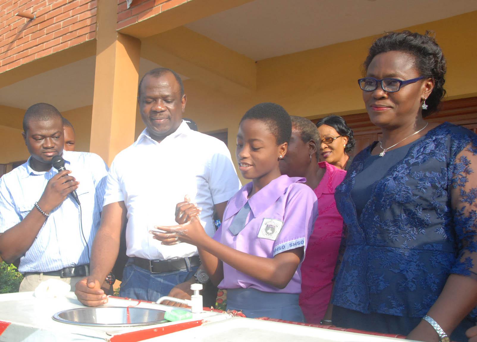 Unilever handwashing activity at Oregun High school 3
