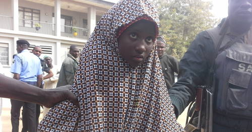 Young Female Bomber Arrested In kano On Wednesday, December 24, 2014 (Photo Credit: Premium Times)