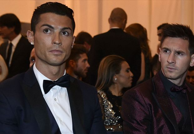 Ronaldo And Messi At The 2014 Balon D'or Award Ceremony In Zurich (Photo Credit: Goal.com)