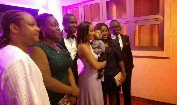 Ghanaian actor, Chris Attoh wedded his girlfriend, Damilola Adegbite  in Ghana on Saturday,  February 14, 2015 (Photo Credit: Dele Momodu)