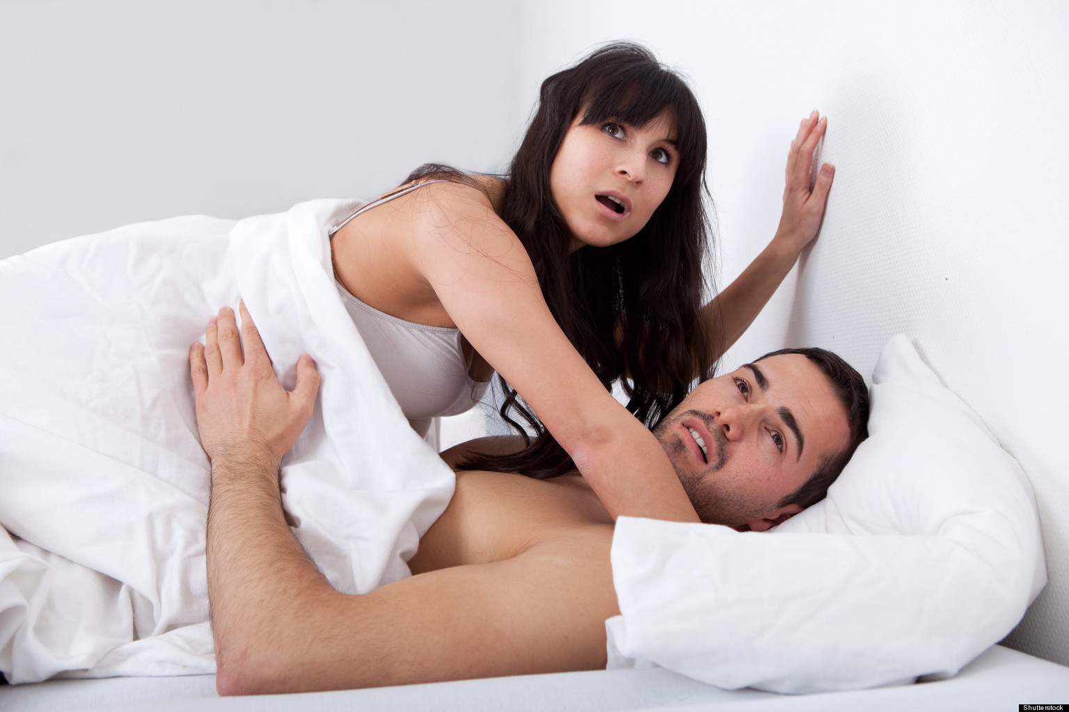 Husband and wife sex on bed