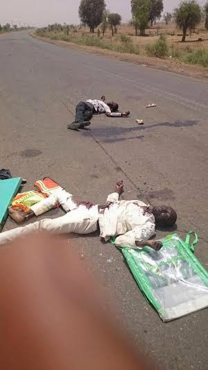The 2 slain INEC officials (photo credit: Linda Ikeji's blog)