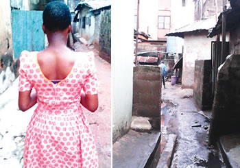 17-year-old girl, Idowu (Left) who was raped severally by a Muslim cleric, Abullahi Omobolaji in the Agege area of Lagos state (Right). (Photo Credit: Punch)