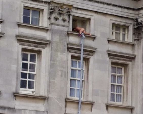 Watch Hilarious Video Of A Naked Man Climbing Out Of A -9107