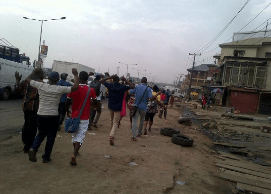 serious violence at Oshodi area of Lagos state on Thursday, March 26, 2015.