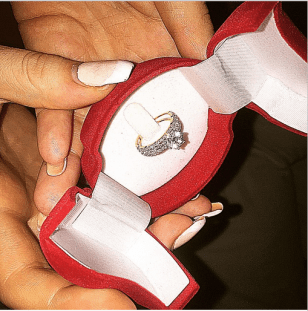 Sonia Morales engagement ring from boyfriend IK Ogbonna (Photo Credit: Instagram)
