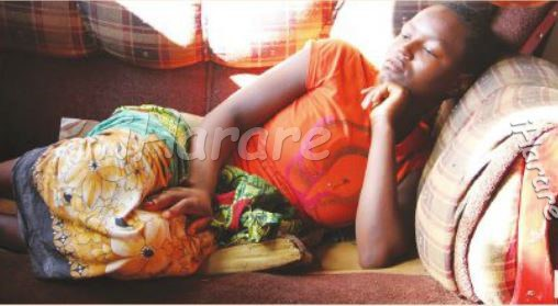 Sex starved 16-year-old wife, Shylet Uripa has stays without panties since her husband's penis became dysfunctional. (Photo Credit: iHarare)