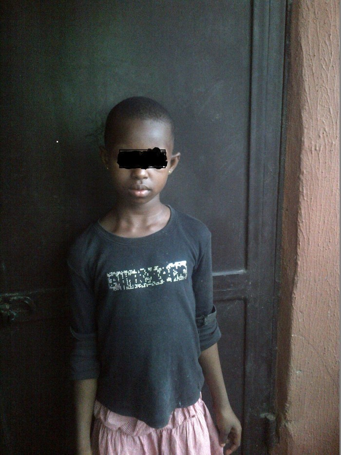 24-year-old man identified as Kingsley (pseudonym) was caught having sex with a 10-year-old girl, Favour,(pseudonym) in Anambra State on Friday, April 17, 2015. (Photo Credit: Unigwe Chidinma/ The Trent)