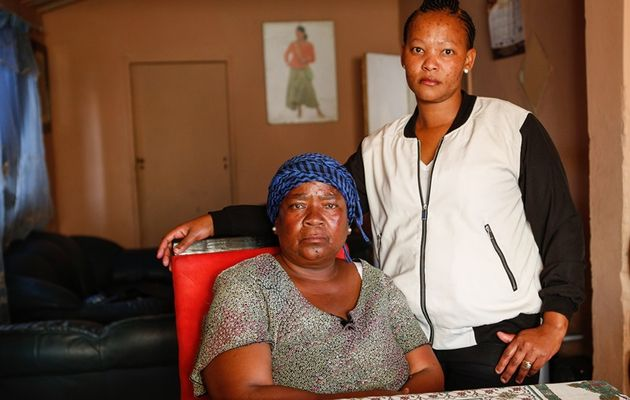 Christina Fokona's mother, Mandisa, and sister, Bridgette Nzama (Photo Credit: Simphiwe Nkwali/Sunday Times)