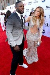50 Cent and Jennifer Lopez (Credit: Invision/AP)