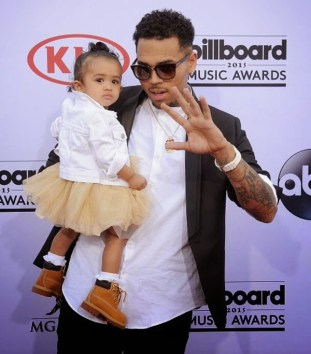 Royalty and her father, Chris Brown