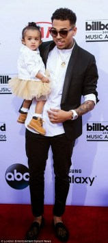 Chris and Royalty storm the red capet together at the 2015 billboards award (Credit: London Entertainment/Splash News)