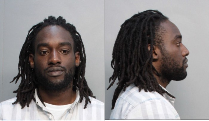 Daniel Sion Palmer was arrested on Thursday, April 30, 2015 after he stole a jewelry from a tourist at Miami Beach and returned to his victim just to tell him it was fake. (Photo Credit: NBC Miami)