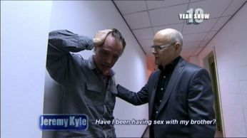 gay lovers, Paul and Lee were left distraught after they realised they are brothers on The Jeremy Kyle show. (Photo Credit: ITV)