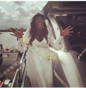 Tiwa Savage and friends at her sailing themed baby shower (Photo Credit:Genevieve Magazine)