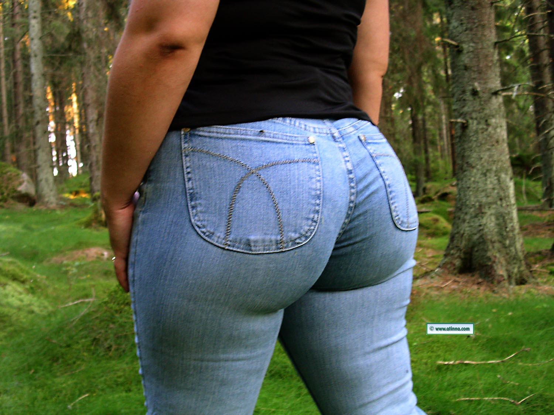 Big booty women in jeans