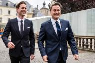 Luxembourg's Prime Minister Xavier Bettel, right, walks with his partner Gauthier Destenay as they arrive at the town hall for their marriage in Luxembourg, on Friday, May 15, 2015. The marriage comes one year after the parliament approved legislation to turn Luxembourg into an increasing number of countries allowing for same-sex marriages. Bettel and Destenay have been civil partners since 2010. (AP Photo/Geert Vanden Wijngaert)